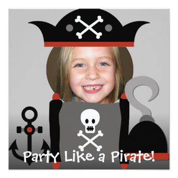 Pirates Girl Party Like a Pirate Invites