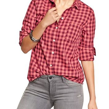 Old navy womens plaid flannel shirts from old navy things i for Womens navy plaid shirt