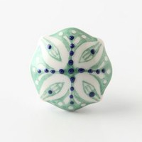 Lisbon Knob by Anthropologie Green One Size Knobs