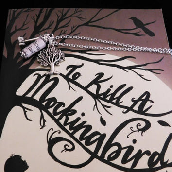 To Kill A Mockingbird Book Page Charm Necklace