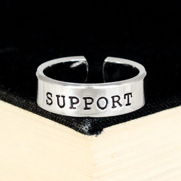 Support Ring - Gamer Roles - Healer- Adjustable Aluminum Ring