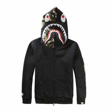 LMFONQ Boys & Men Shark Hoodies Zipper Cardigan Jacket Coat