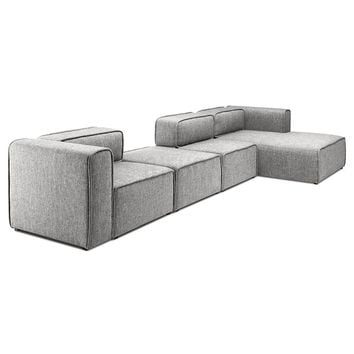 L-Shaped 3 Seater Right Sectional Chaise Modern Sofa - Björn