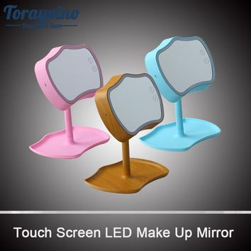 Bathroom Vanity Mirror LED Light Touch Screen Control Can Be Rotated Make-up Mirror Bathroom Mirror
