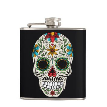 Day Dead Sugar Skull Flask