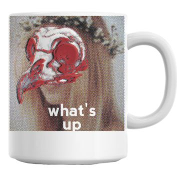 What's Up Bird Skull Girl Coffee Mug Cup 11 Oz