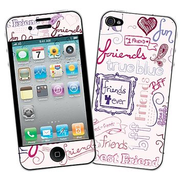 Friends Pink for the iPhone 4/4S by skinzy.com