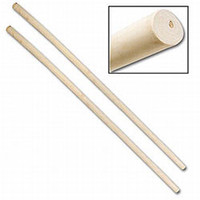 6 Foot Wax Wood Staff - SET of 2