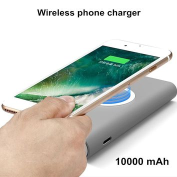 10000mAh Wireless Charger Power Bank For iPhone X 8 Plus Wireless Phone Charger Powerbank For Samsung Galaxy S9 Plus Huawei P20
