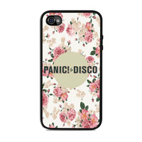 Panic At The Disco Flower Band Iphone 4 Case