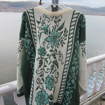 "wmns sz l emerald isle sweater from ireland,like new condition, chest 50"",pullover"