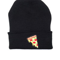 5 Bit Pizza Beanie - Black