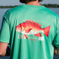 FieldTec Snapper Pocket Tee - Short Sleeve in Bimini Green by Southern Marsh