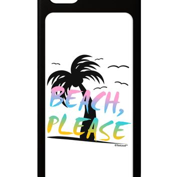 Beach Please - Summer Colors with Palm Trees iPhone 5 / 5S Grip Case  by TooLoud