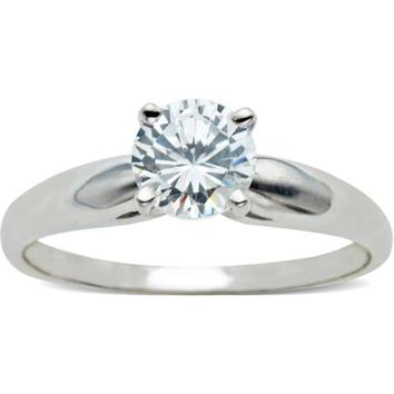 Believe by Brilliance 1.42 Carat. T.G.W. CZ Solitaire 10kt White Gold Engagement Ring - Walmart.com