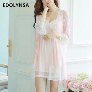 New Arrivals Sexy Nightgown Robes Set Bathrobe Sets Lace Nightdress Set Bridesmaid Robes Peignoir Wedding Robe Sets #H136