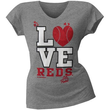 Cincinnati Reds - Glitter Love Girls Juvy T-Shirt