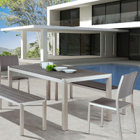 Metropolitan 5-Piece Modern Outdoor Dining Set
