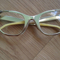 1950s Gold Cat Eye Glasses by Tura by bycinbyhand on Etsy