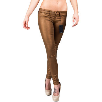 Flying Monkey L7436 Gold Metallic Skinny Jeans