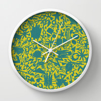 Synapses Wall Clock by Nick Nelson | Society6