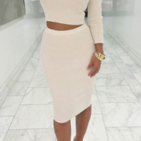Autumn two piece party dress