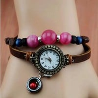 Thin Belt Watch with Beads by jimmywei on Zibbet