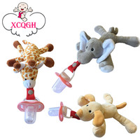 XCQGH Chupeta Attache Sucette Baby Pacifier Removable With Lid Toy Pacifiers Dummy Feeding Elephant Silicone Nipple For Newborns
