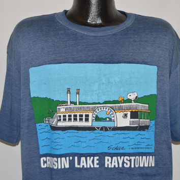 80s Snoopy Peanuts Lake Raystown t-shirt Extra Large