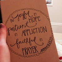 Handlettered Journal // Moleksine Journal // Ruled Journal // Bible Verse