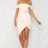 Whistle A Song Dress Nude