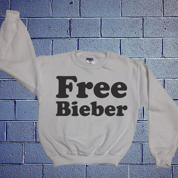 Free Bieber Justin Bieber White Sweatshirt x Crewneck x Jumper x Sweater - All Sizes Available 160