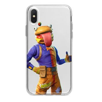 CLEAR BEEF BOSS FORTNITE CUSTOM IPHONE CASE