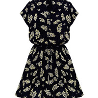 'The Cinzia' Black Floral Printed Sleeveless Dress