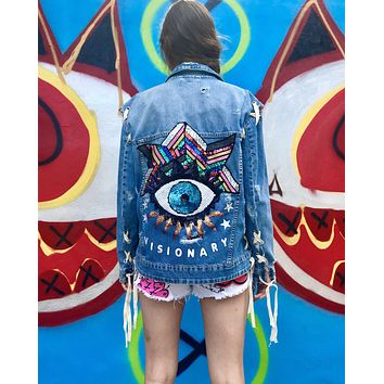 NEW Vintage Visionary Denim Jacket.