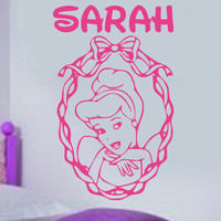Cinderella Disney Princess Personalized vinyl wall decal
