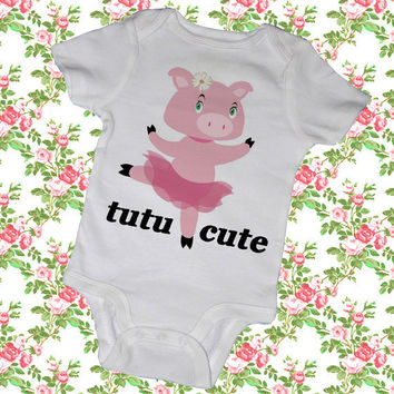 TUTU CUTE Bodysuits Tees Girl Baby Shower Party by MyLucysLoft2