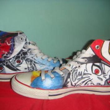 hand painted converse sasuke and naruto custom converse sneakers