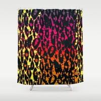 Rainbow Cheetah Abstract Pattern Shower Curtain by Amy Anderson | Society6