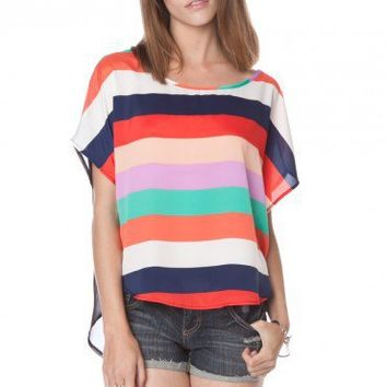 Gavin Striped Crop Top - ShopSosie.com