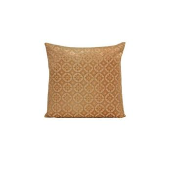 Small Moroccan Velvet Gold Beige Pillows by Kevin O'Brien Studio