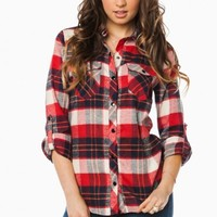 CLINTON PLAID BLOUSE