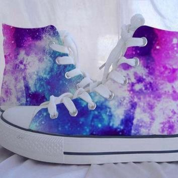 DCCKHD9 Custom Converse Galaxy Converse Sneakers Hand-Painted On Converse Shoes Canvas shoes