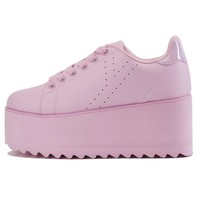Y.R.U. for Women: Lala Pink Platform Sneakers