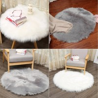 Soft Artificial Sheepskin Rug Chair Cover Artificial Wool Warm Hairy Carpet Seat Gift