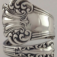 Size 10 Vintage Sterling Silver Watson Spoon Ring