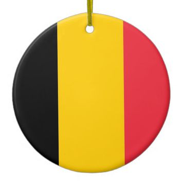 Ornament with flag of Belgium