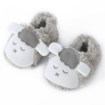 "Super Cute ""Little Lamb"" Baby Shoes - Warm Plush Infant Booties"