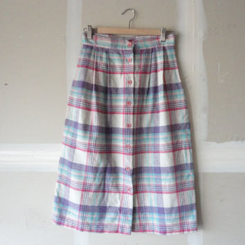 vintage skirt vintage valerie skirt high waist skirt button front skirt s