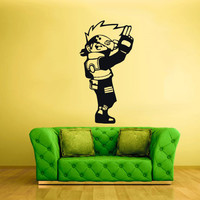 Wall Decal Mural Sticker Anime Manga Poster Girl Naruto Final Fantasy Hero Face (z1734)
